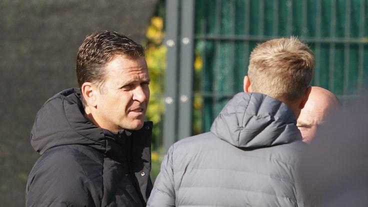 Oliver Bierhoff, DFB-Direktor Nationalmannschaften, während des Trainings.