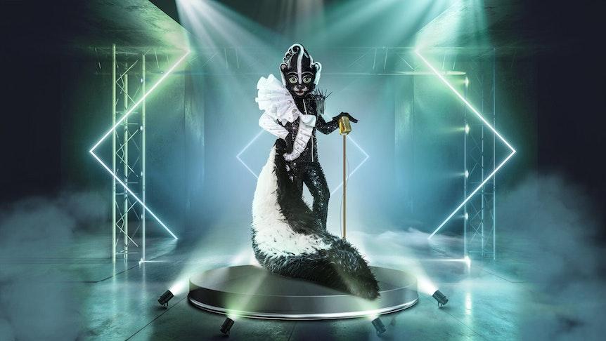 """Das Stinktier betört bei """"The Masked Singer"""" 2021 alle Sinne."""