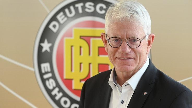 Franz Reindl, Präsident des Deutschen Eishockey-Bundes.