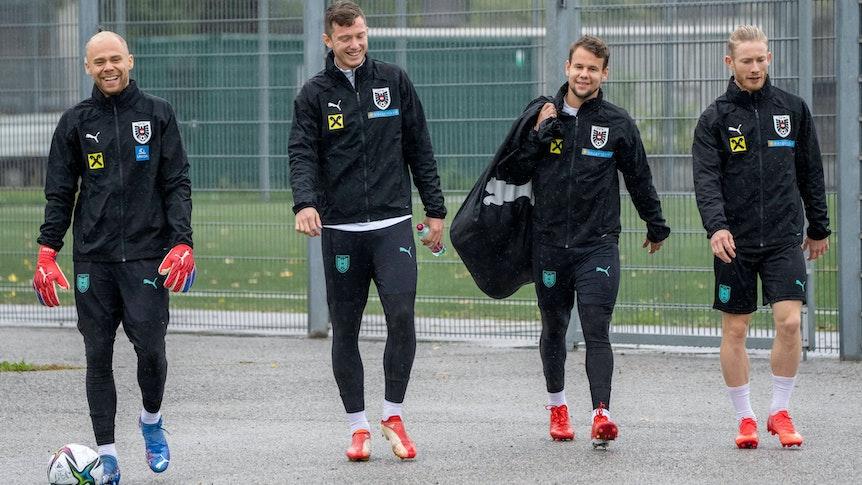 Florian Kainz und Louis Schaub trainieren mit der Nationalmannschaft Österreichs.