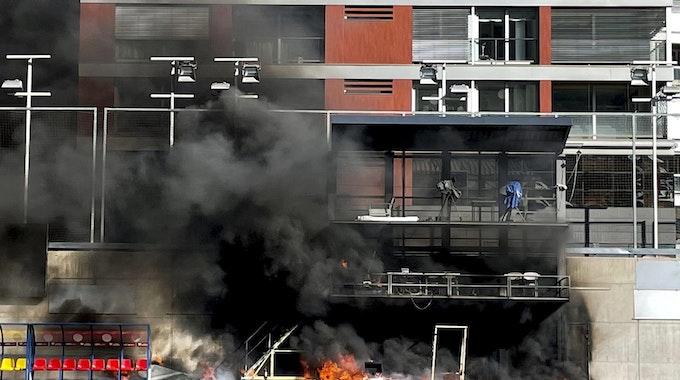 Feuer im National Stadium in Andorra