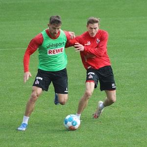 Salih Özcan und Niklas Hauptmann trainieren beim 1. FC Köln.