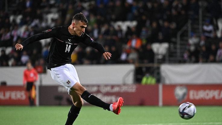 Dejan Ljubicic spielt für Österreich gegen die Färöer Inseln.