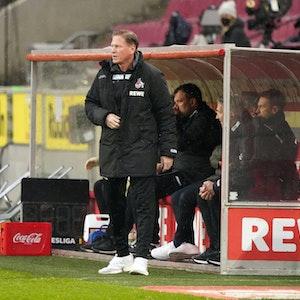 Markus Gisdol trainiert den 1. FC Köln gegen den FSV Mainz 05.