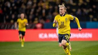 Traf gegen den Kosovo zum 1:0 für Schweden: Leipzigs Profi Emil Forsberg