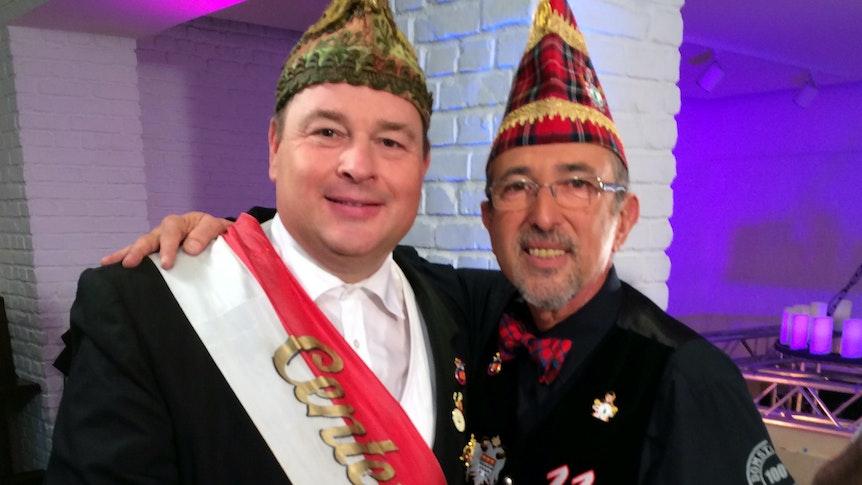 Michael Schwan und Center-TV-Kollege Stephan Brandt