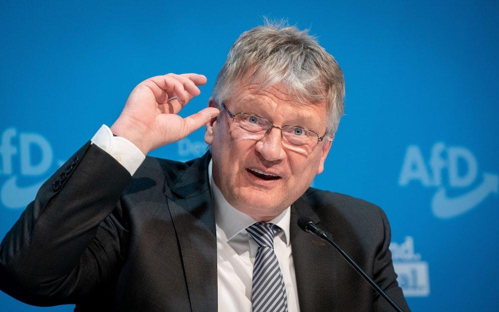 Jörg Meuthen spricht bei einer Pressekonferenz. Der 60-Jährige will nicht mehr für den AfD-Vorsitz kandidieren.