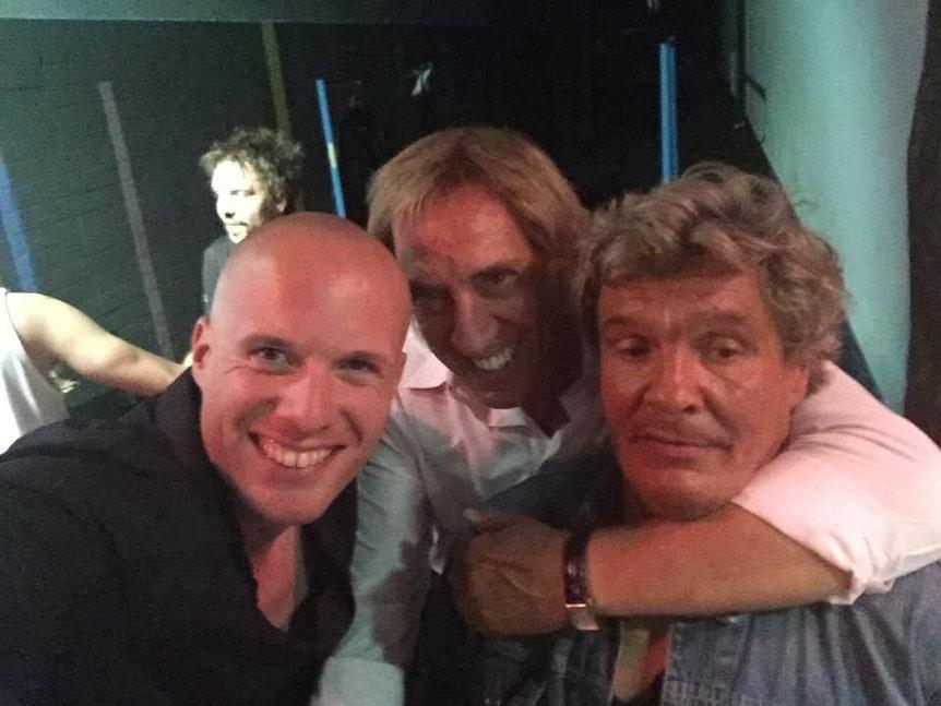 Karate Jacky mit dem Langen Tünn und Express-Reporter Markus Krücken