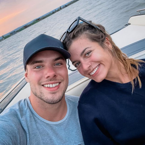 """""""Bachelorette""""-Sieger Raphael Fasching auf einem Instagram-Selfie vom 22. September 2021 mit Ex-""""Bachelorette"""" Maxime Herford."""