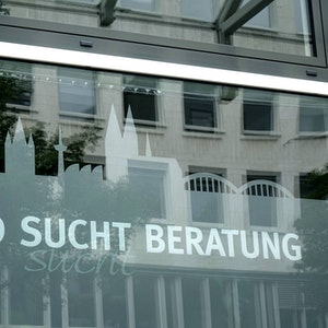 Eine Drogenberatungsstelle in der Kölner Bismarckstrasse.