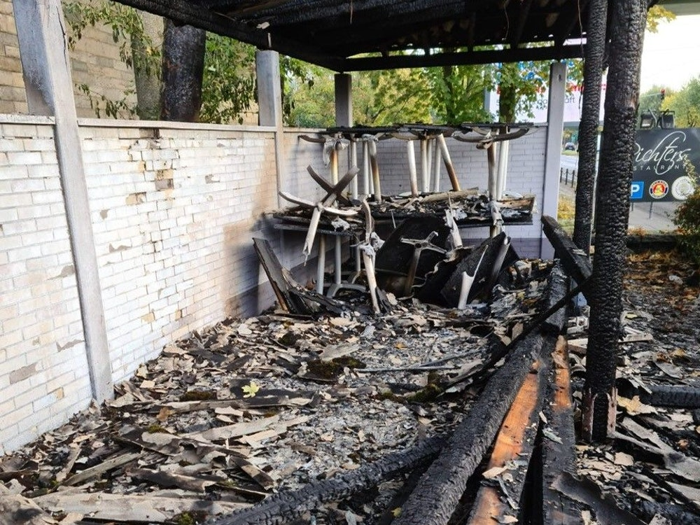 Brandanschlag Richters in Köln an der Zoobrücke