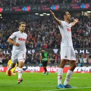 Ellyes Skhiri jubelt für den 1. FC Köln gegen die SpVgg Greuther Fürth.