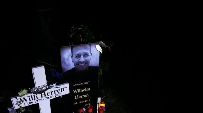 Grab von Willi Herren auf dem Kölner Melatenfriedhof am 12. Oktober 2021.