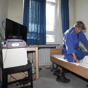 Jakob Franzen alias Karate Jacky im Annoheim.