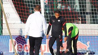 """""""Er fühlt sich sicher in der Gruppe und auf dem Platz"""": Christopher Nkunku beim Mittwochstraining bei RB Leipzig."""
