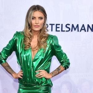 Schauspielerin Sophia Thomalla kommt im September 2019 zu der Bertelsmann Party in der Bertelsmann Repräsentanz Unter den Linden