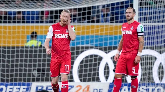 Rafael Czichos und Florian Kainz verlieren mit dem 1. FC Köln gegen die TSG Hoffenheim.