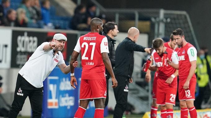 Steffen Baumgart trainiert den 1. FC Köln gegen die TSG Hoffenheim.