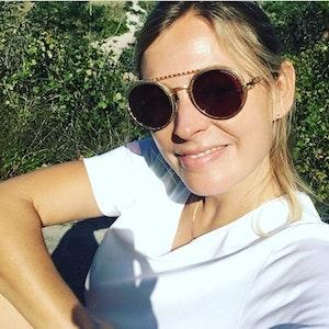 """Die ehemalige """"Unter uns""""-Schauspielerin Sarah Stork auf einem Selfie, das sie am 22. September 2020 auf Instagram hochgeladen hat."""