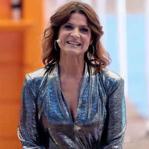 """Die Moderatorin Marlene Lufen bei der Auftaktsendung der Sat.1 Fernsehshow """"Promi Big Brother"""" im Studio."""