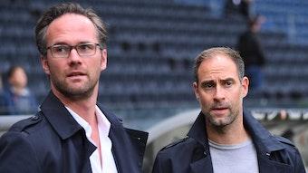 RB-Leitung: Florian Scholz und Oliver Mintzlaff (r.)