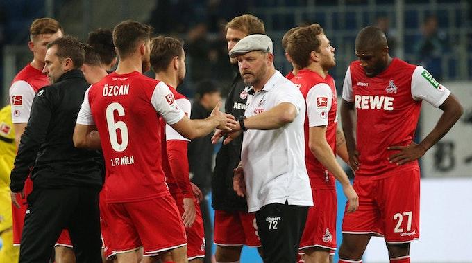 Steffen Baumgart und der 1. FC Köln sprechen nach dem 0:5 bei der TSG Hoffenheim.