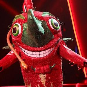 """Als erstes Kostüm wurde die Chili bei """"The Masked Singer"""" 2021 enttarnt."""