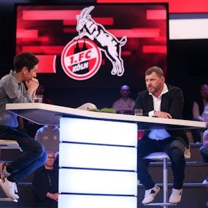 Steffen Baumgart spricht im ZDF Sportstudio mit Dunja Hayali.