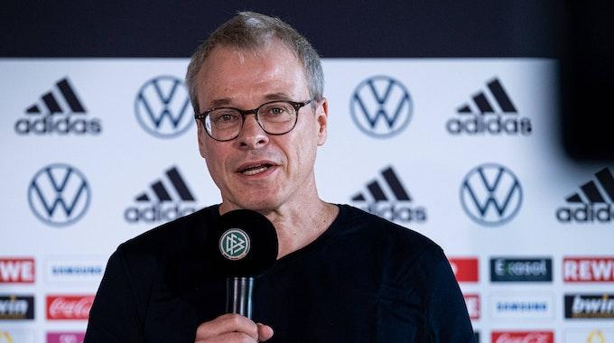 Peter Peters beim Medien Get-together von Bundestrainer Hansi Flick am DFB- Campus