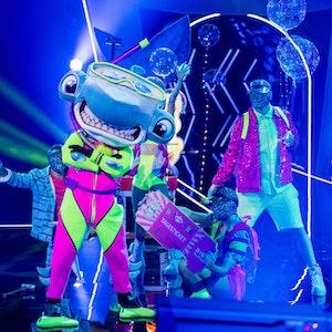 """Die erste Folge """"The Masked Singer"""" ist vorbei und der Hammerhai ist in der nächsten Runde. Doch wer steckt unter dem Meeresbewohner?"""