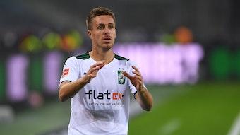Patrick Herrmann, hier beim Bundesliga-Duell des 8. Spieltags gegen den VfB Stuttgart am 16. Oktober 2021 im Borussia-Park.