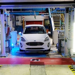 Die Produktion eines Ford-Fiesta am 16. Mai 2017 in Köln.