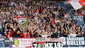 1400 Fans von RB Leipzig waren in Paris mit dabei.