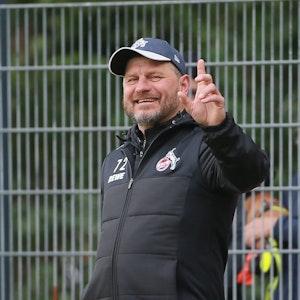 Trainer Steffen Baumgart hat Spaß beim 1. FC Köln.