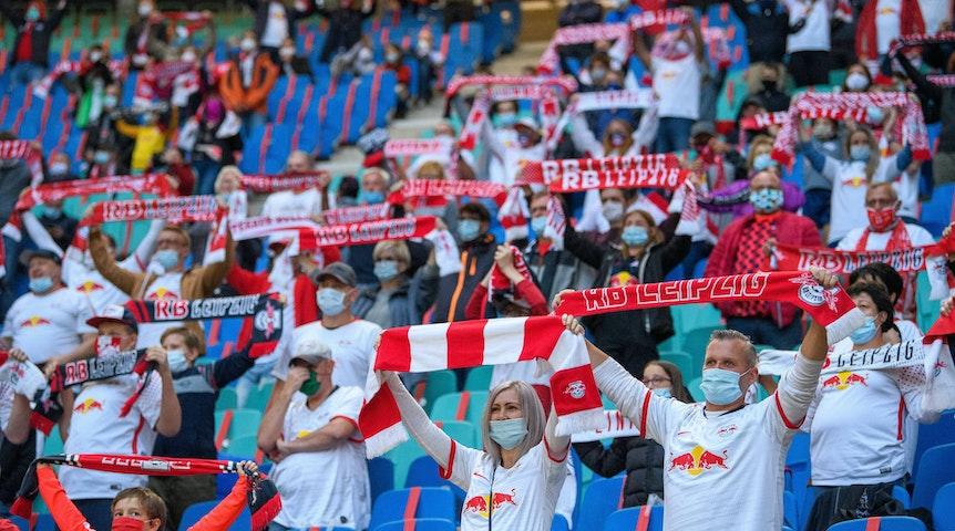 RB-Heimspiel mit Fans im Oktober 2020 gegen Schalke.