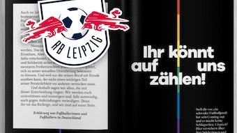 Der Erklärung von Fußballerinnen und Fußballern zur Unterstützung homosexueller Kicker schloss sich auch RB Leipzig an.