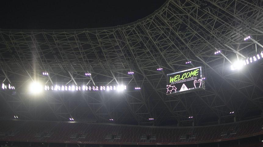 Borussia hat ein Heimspiel in der Puskas Arena Borussia Mönchengladbach - Manchester City Budapest, 24.02.2021.