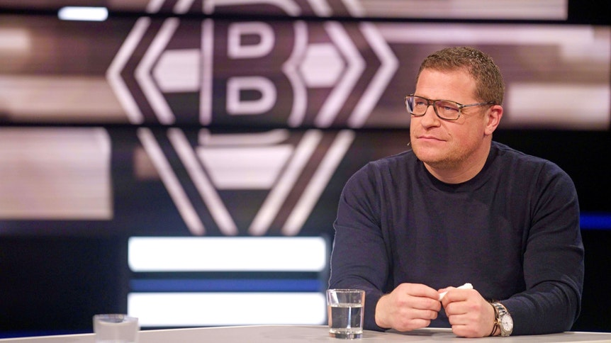 """Gladbach-Manager Max Eberl bei einem Auftritt im """"Aktuellen Sportstudio"""" des TV-Senders """"ZDF"""" am 13. März 2021."""