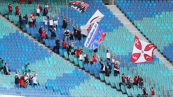 RB-Fans beim Spiel gegen Hertha BSC Berlin im Herbst.