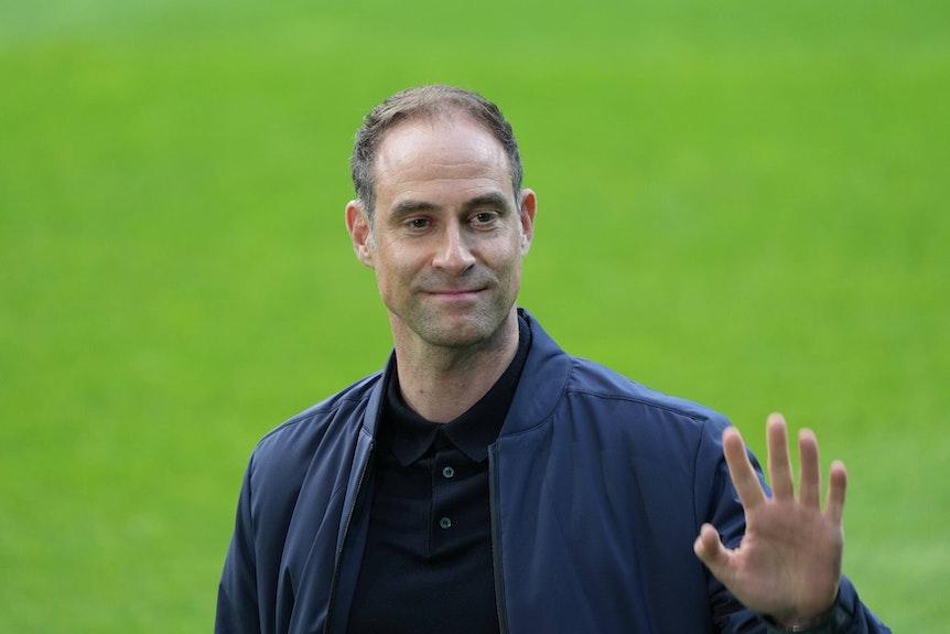 Alles im Griff? Oliver Mintzlaff beim Pokal-Halbfinale in Bremen.