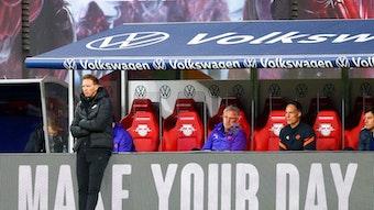 Sein letztes Heimspiel als Trainer von RB Leipzig: Julian Nagelsmann