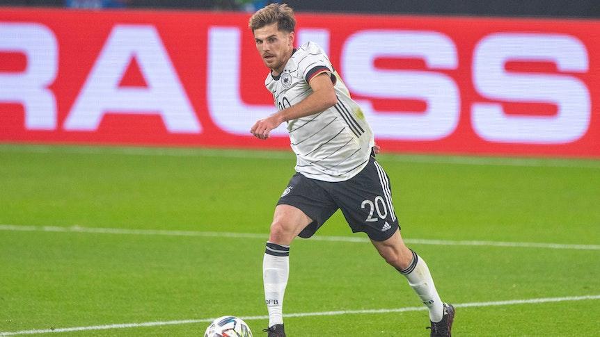 Gladbachs Jonas Hofmann, hier zu sehen am 11. November 2020 im Länderspiel gegen Tschechien, zählt sicherlich zu den Überraschungsnominierungen im EM-Kader von Bundestrainer Joachim Löw.