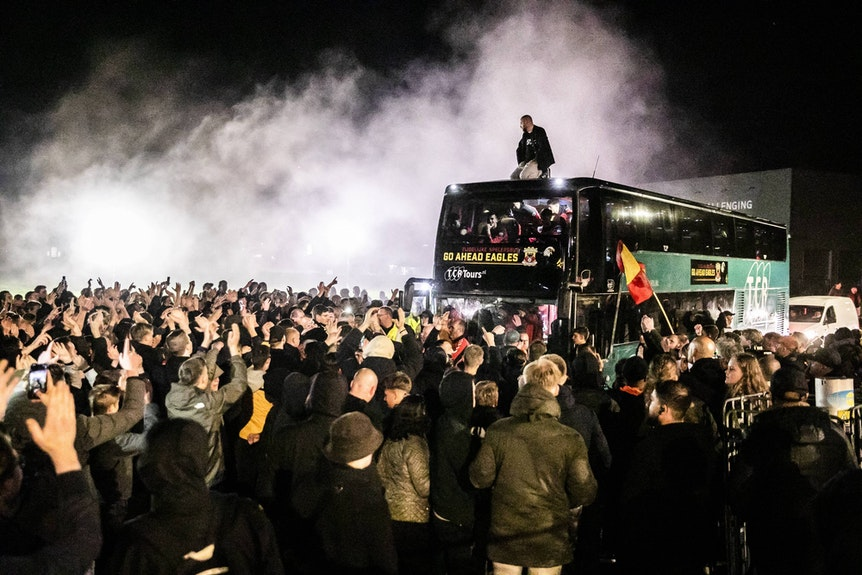 Aufstiegsparty der Go Ahead Eagles Deventer mit ihren Fans