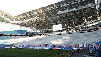 Umbau Fanblock Red Bull Arena.