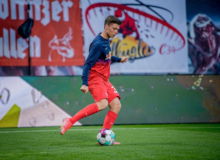 Leipzigs Sidney Raebiger könnte den Durchbruch unter Jesse Marsch schaffen.