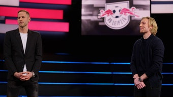Auch 2021/22 noch bei RB Leipzig? Peter Gulacsi und Emil Forsberg.