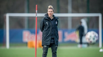 RB Leipzigs Co-Trainerin und Aushilfsstürmerin Anja Mittag.