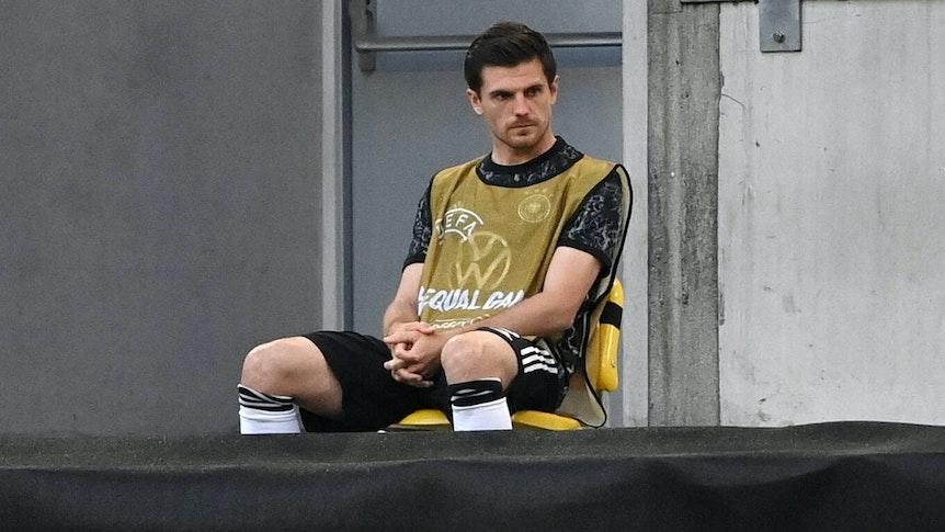 Gladbachs Jonas Hofmann, hier beim Länderspiel der Deutschen gegen Lettland am 7. Juni 2021, hat sich eine Knieverletzung zugezogen.