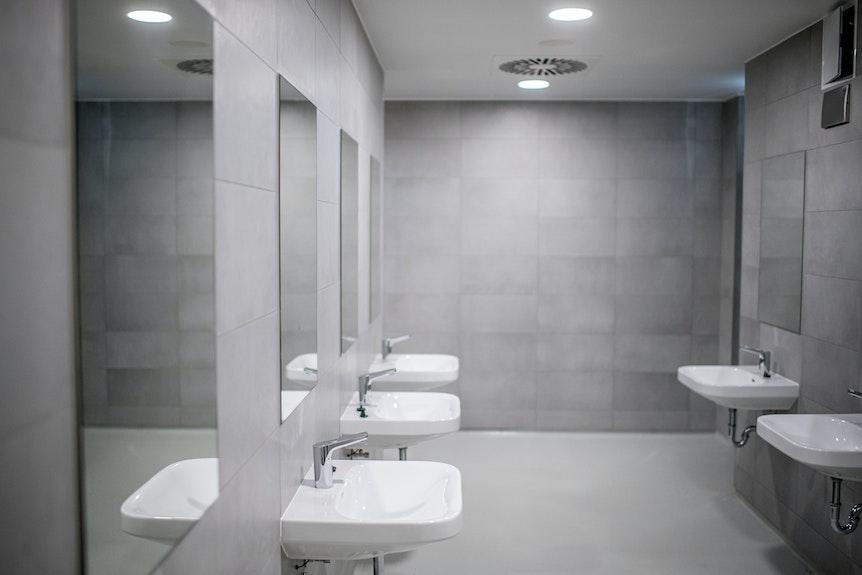 Schick: Neue Toiletten in der Red-Bull-Arena.