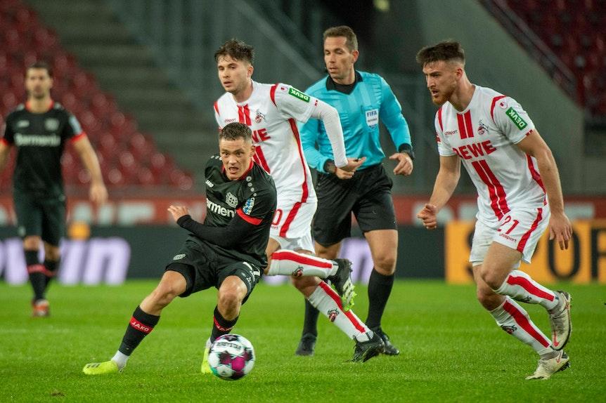 Florian Wirtz bei 1. FC Köln gegen Bayer Leverkusen